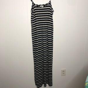 Calvin Klein metallic striped maxi dress. Size 8.